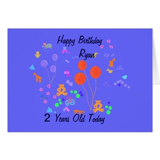 Happy Birthday 2 year old Card