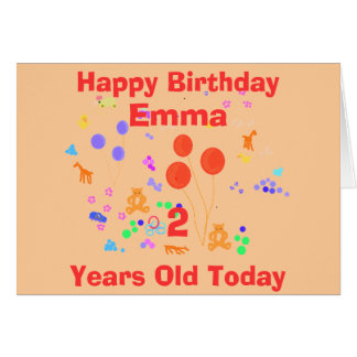 Happy Birthday 2 year old Greeting Card