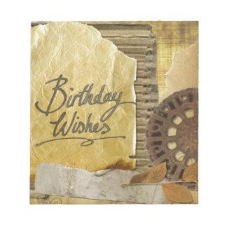 Happy-Birthday #3 Notepad