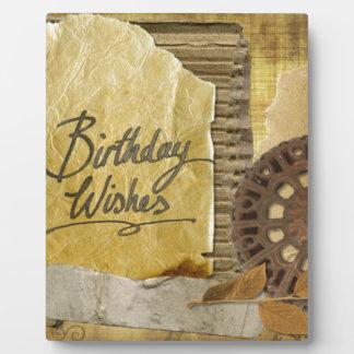 Happy-Birthday #3 Plaque