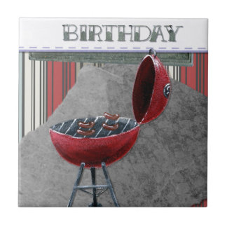 Happy-Birthday #4 Ceramic Tile