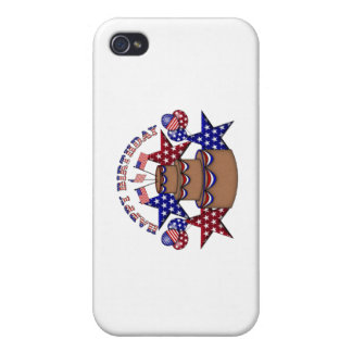 Happy Birthday 4th of July iPhone 4 Covers
