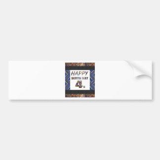Happy Birthday 4th Text Bumper Sticker