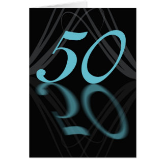 Happy Birthday 50 stylish, mirror 50, 50th birthda Card