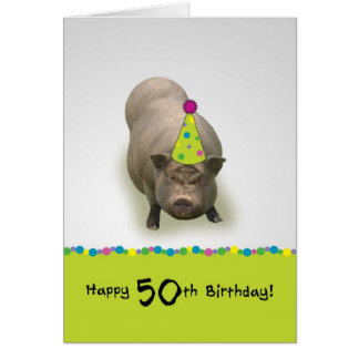 Happy Birthday 50, Sweet Celebration Greeting Card