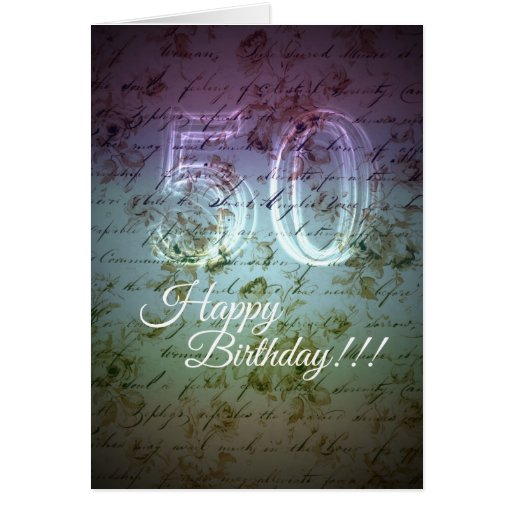 Happy Birthday! 50th Greeting Cards