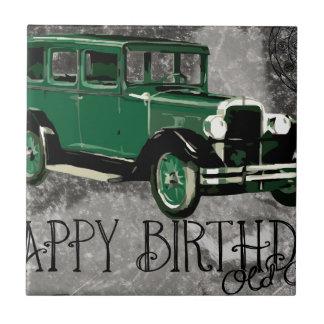Happy-Birthday #5 Small Square Tile