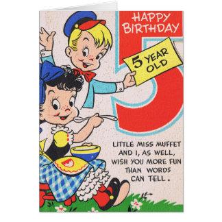 Happy Birthday 5 Year Old Greeting Card