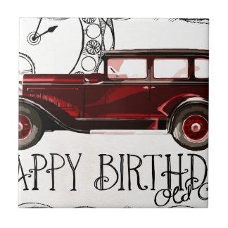 Happy-Birthday #6 Small Square Tile
