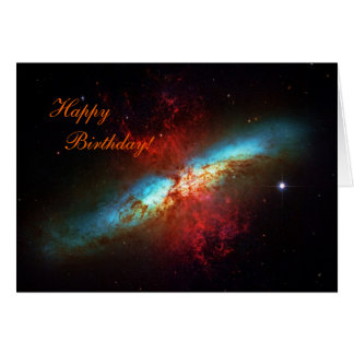 Happy Birthday - A Starburst Galaxy Card