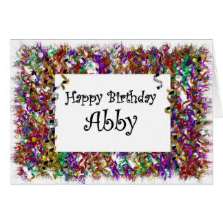 Happy Birthday Abby Card