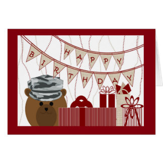 Happy Birthday, Active Duty Air Force Hero! Greeting Card
