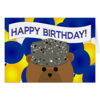 Happy Birthday Air Force Active Duty! Greeting Card