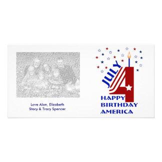 Happy Birthday America Photo Cards