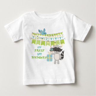 Happy Birthday Animal & Cup Cake Collection Baby T-Shirt