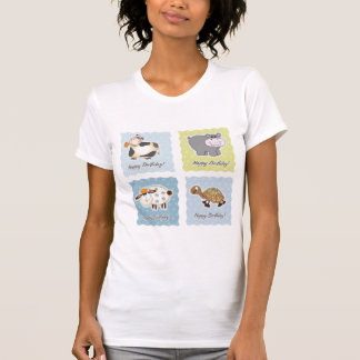 Happy Birthday Animals Womens T-Shirt