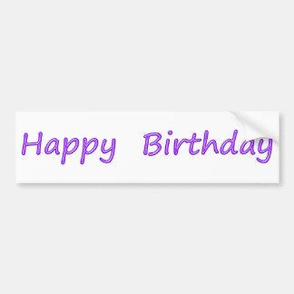Happy Birthday Art Bumper Stickers