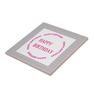 Happy Birthday art on Crystal Stone Tile