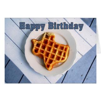 Happy Birthday, August 24, Texas Waffle Card