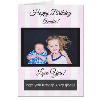 Happy Birthday Auntie Personalized Photo Card