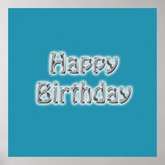 Happy Birthday Autograph Poster