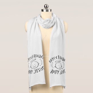 Happy Birthday Baby Jesus - Christmas Chalkboard Scarf