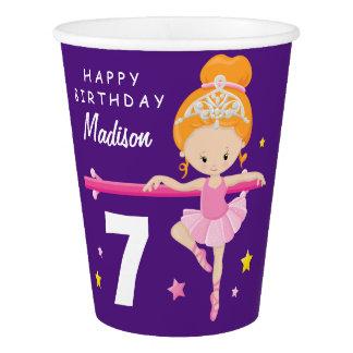Happy Birthday Ballerina Paper Cup