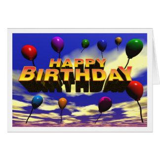 Happy Birthday Ballons Card