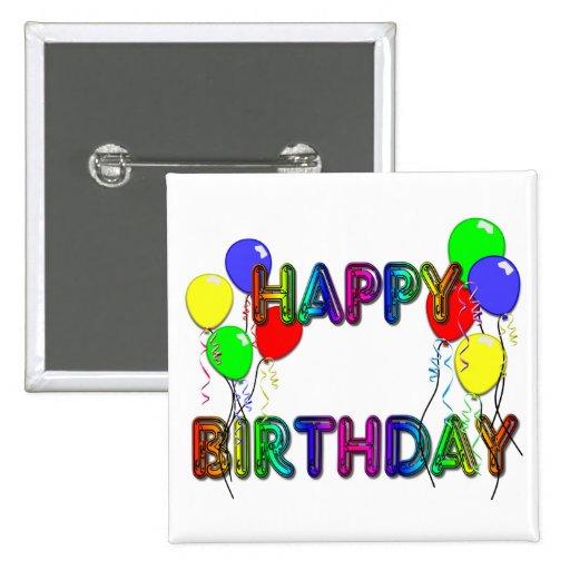 Happy Birthday Ballons D1 Button