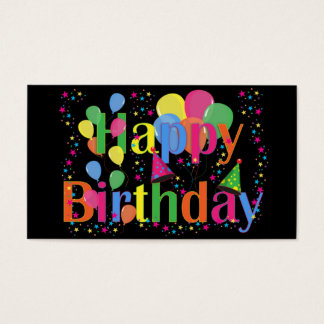 Happy Birthday Balloons Business Cards