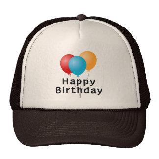 Happy Birthday Balloons Cap