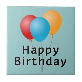 Happy Birthday Balloons Ceramic Tile