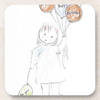 Happy Birthday Balloons Beverage Coasters