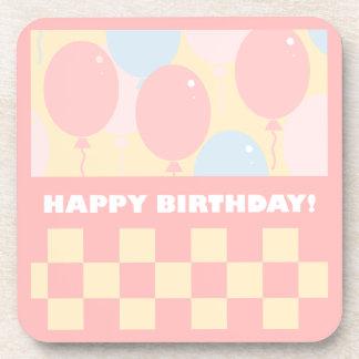 Happy Birthday Balloons Coasters