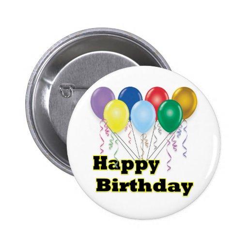 Happy Birthday Balloons D3 Button