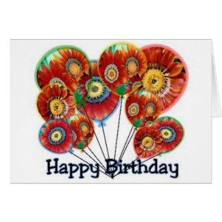Happy Birthday Balloons (Daughter) Card