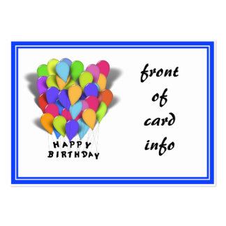 Happy Birthday Balloons for Boy (Blue Trim) Pack Of Chubby Business Cards