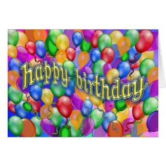 Happy Birthday Balloons multicolor Card