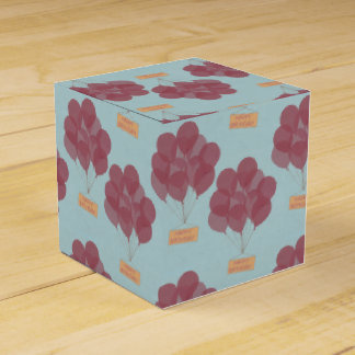 Happy birthday balloons party favour box