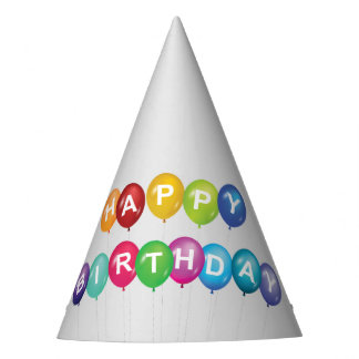 Happy Birthday Balloons Party Hat