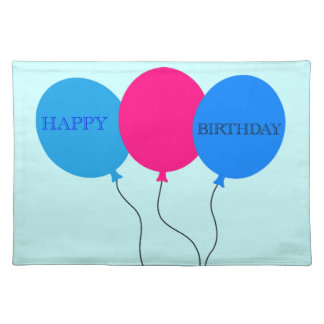 Happy Birthday Balloons Placemats