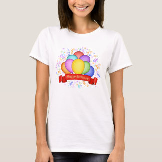 Happy Birthday Balloons Women's T-Shirt