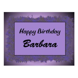 Happy Birthday Barbara Postcard