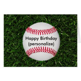 Happy Birthday Baseball Card
