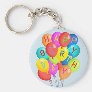 Happy Birthday! Basic Round Button Key Ring
