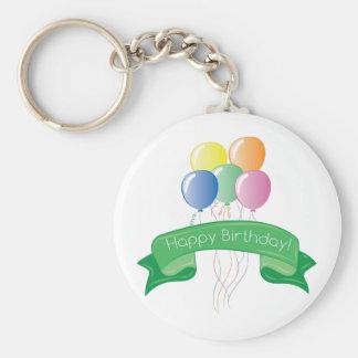 Happy Birthday Basic Round Button Key Ring