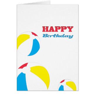 Happy Birthday beach balls Greeting Cards
