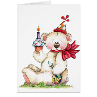 Happy Birthday Bear - Card