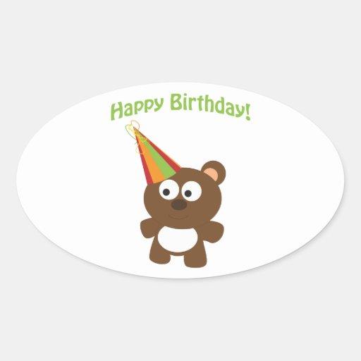 Happy Birthday! Bear Stickers