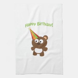Happy Birthday! Bear Tea Towel